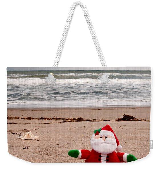 Santa At The Beach Weekender Tote Bag