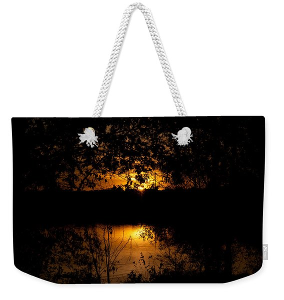 Scary Sunset Weekender Tote Bag