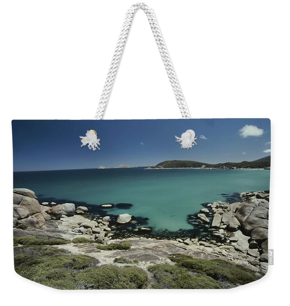 Scenic View Of A Bay At Wilsons Weekender Tote Bag