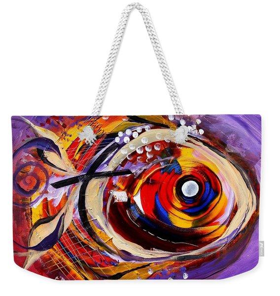 Scripture Fish Weekender Tote Bag