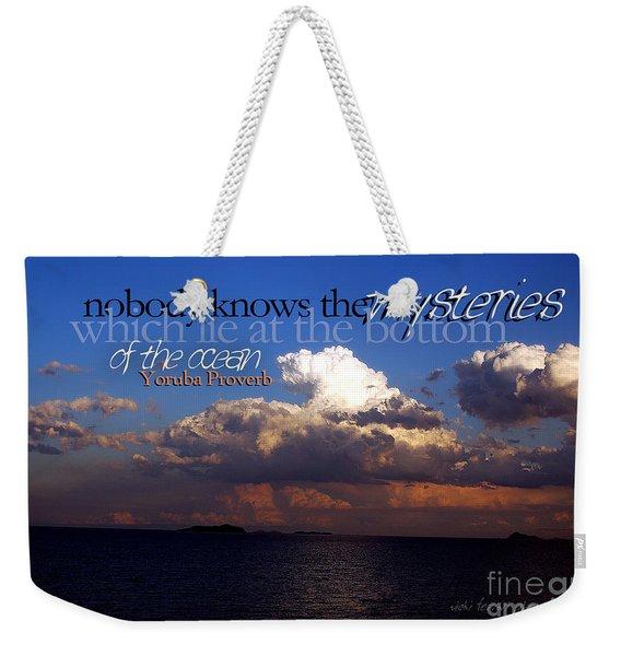 Sea The Mystery Weekender Tote Bag