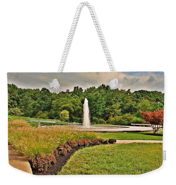 September - Garden Of Reflection Weekender Tote Bag