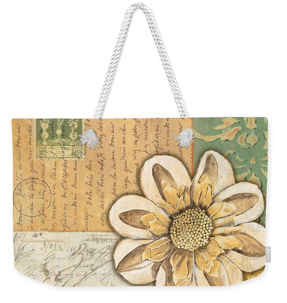 Shabby Chic Floral 2 Weekender Tote Bag