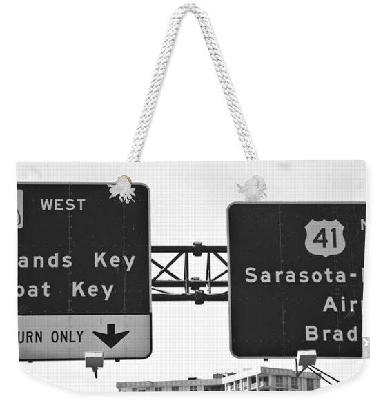 Signs Weekender Tote Bag