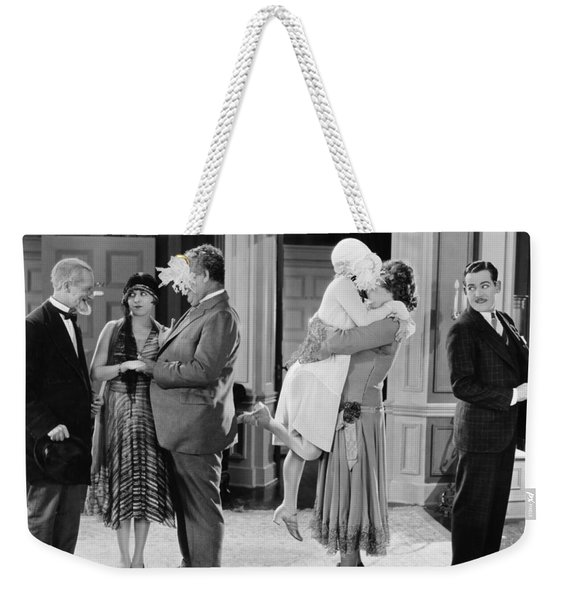 Silent Still: Man In Drag Weekender Tote Bag