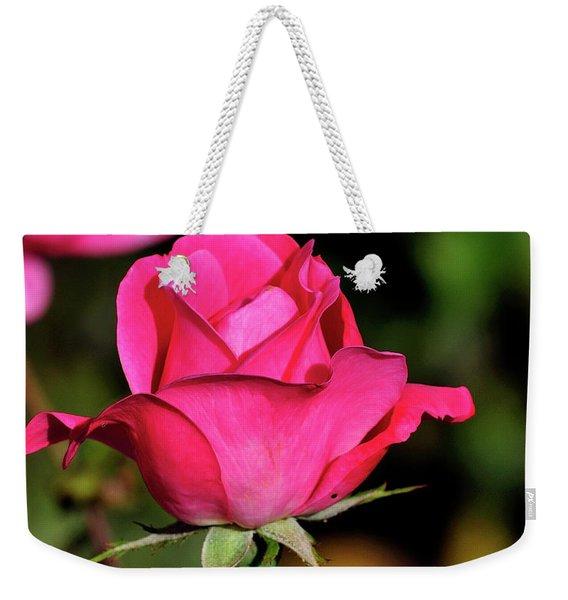Simple Red Rose Weekender Tote Bag
