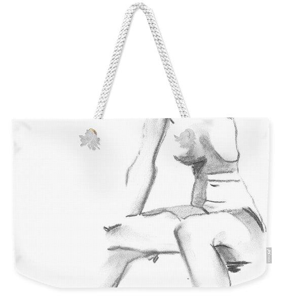 Sitting Weekender Tote Bag