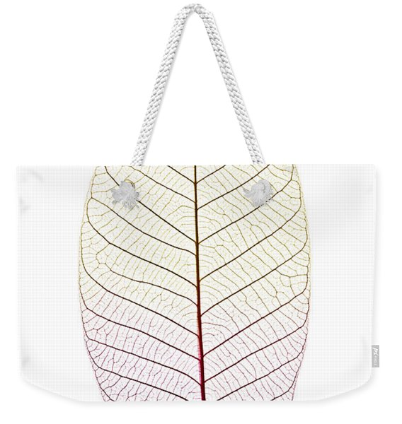 Skeleton Leaf Weekender Tote Bag