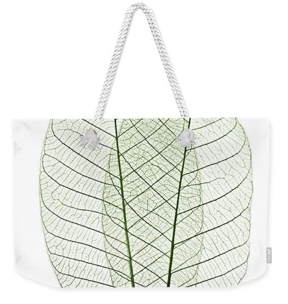 Skeleton Leaves Weekender Tote Bag