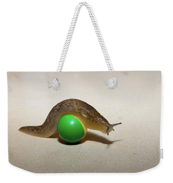 Slug On The Ball Weekender Tote Bag