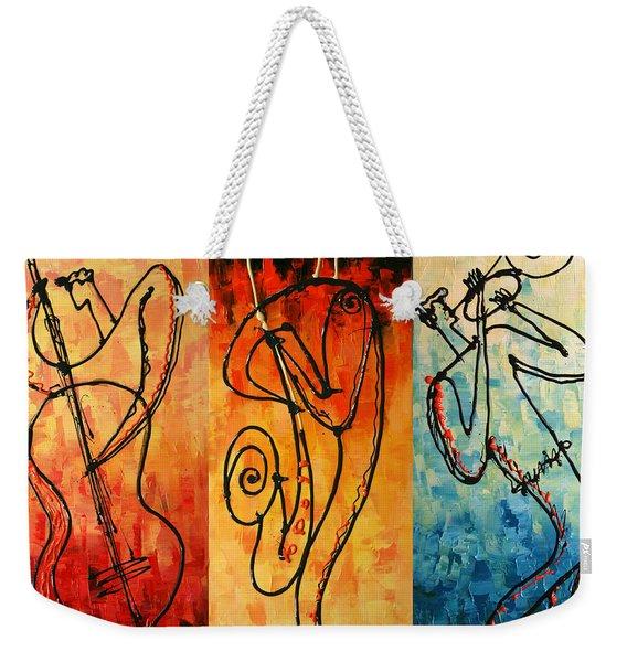 Smooth Jazz Weekender Tote Bag