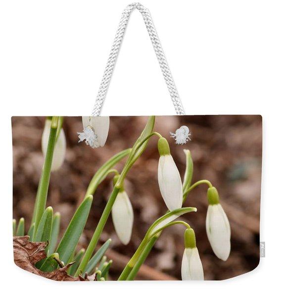 Snow Drops Weekender Tote Bag