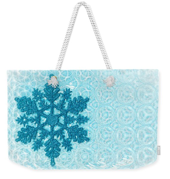 Snow Flake Weekender Tote Bag