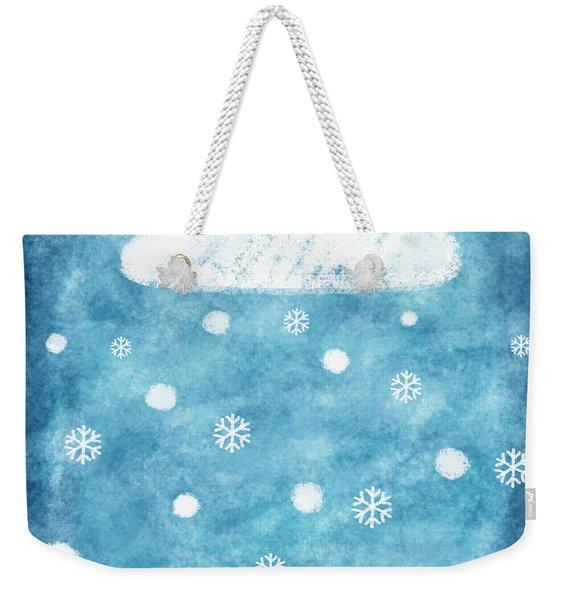 Snow Winter Weekender Tote Bag
