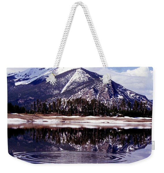 Snowmelt Runoff In The Rocky Mountains Weekender Tote Bag