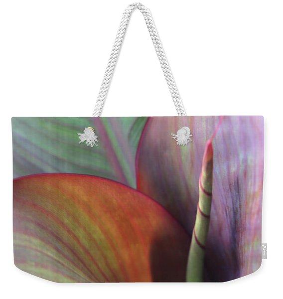 Weekender Tote Bag featuring the photograph Soft Focus Petal by Lorraine Devon Wilke
