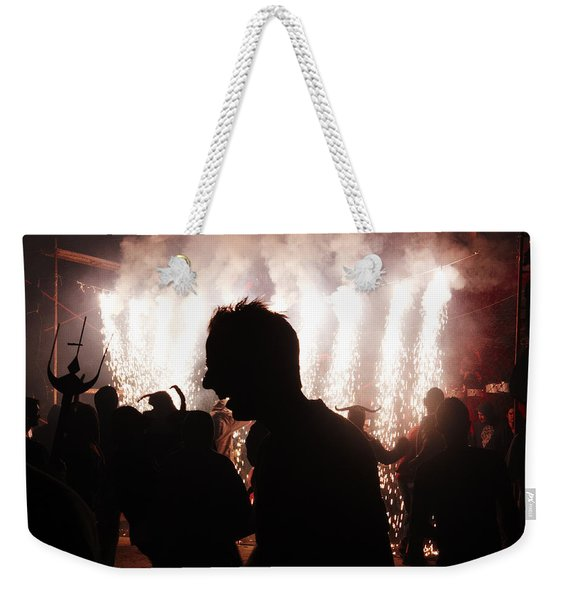 Spark Backlighting Weekender Tote Bag