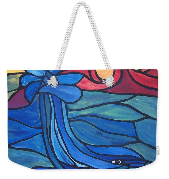 Weekender Tote Bag featuring the painting Splash by Cynthia Amaral