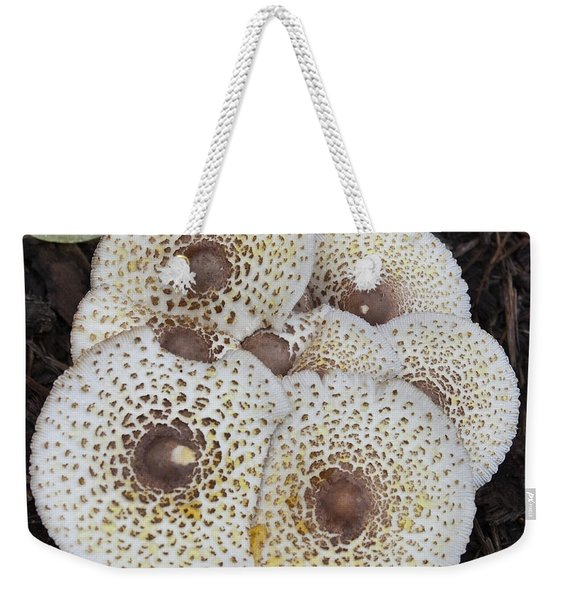 Squared Shrooms From The Top Weekender Tote Bag