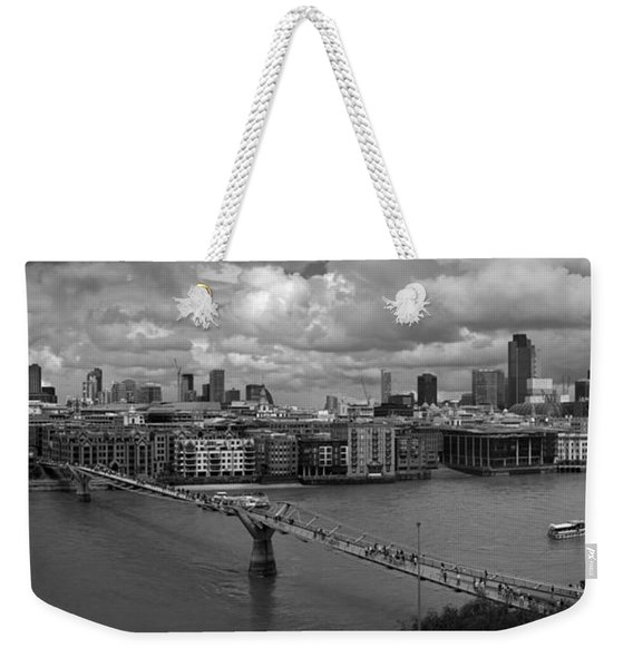 St Paul's And The City Panorama Bw Weekender Tote Bag