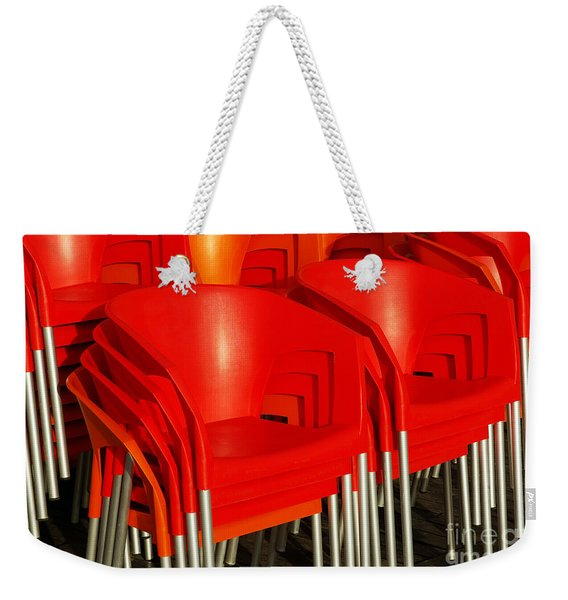 Stacked Chairs Weekender Tote Bag