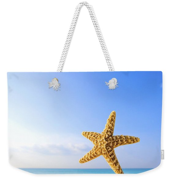 Starfish In Front Of The Ocean Weekender Tote Bag