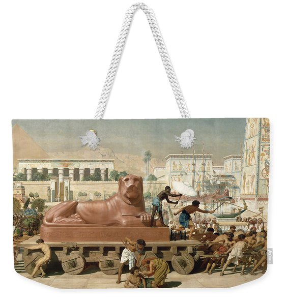 Statue Of Sekhmet Being Transported  Detail Of Israel In Egypt Weekender Tote Bag