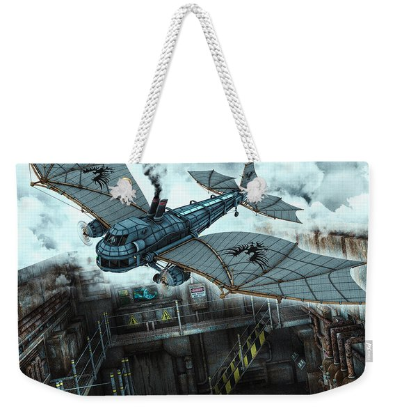 Steam Dragon Crossing Weekender Tote Bag