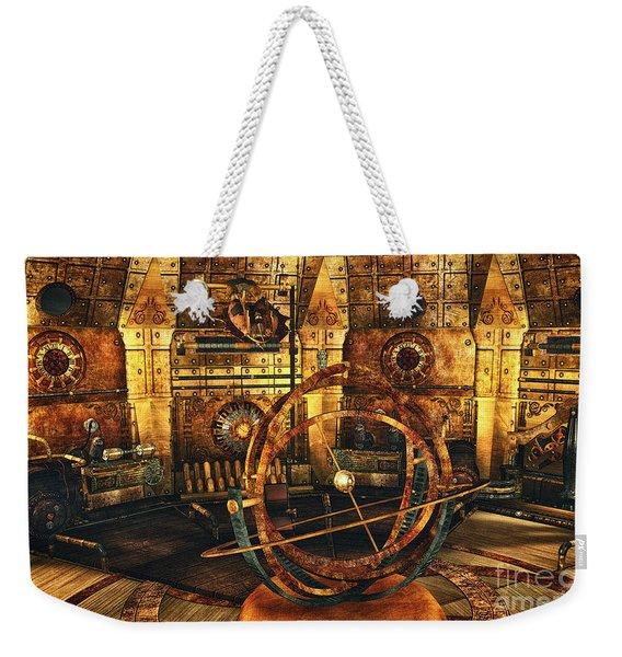 Steampunk Time Lab Weekender Tote Bag