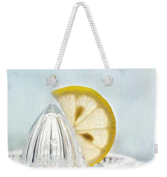 Still Life With A Half Slice Of Lemon Weekender Tote Bag