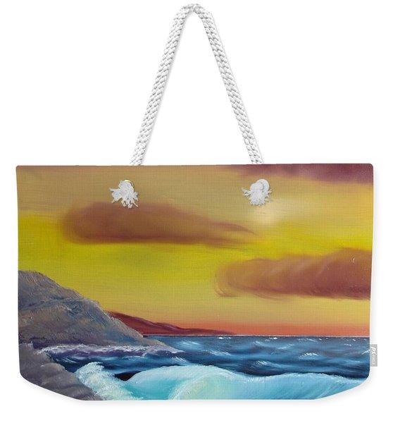 Stormy Beach Weekender Tote Bag