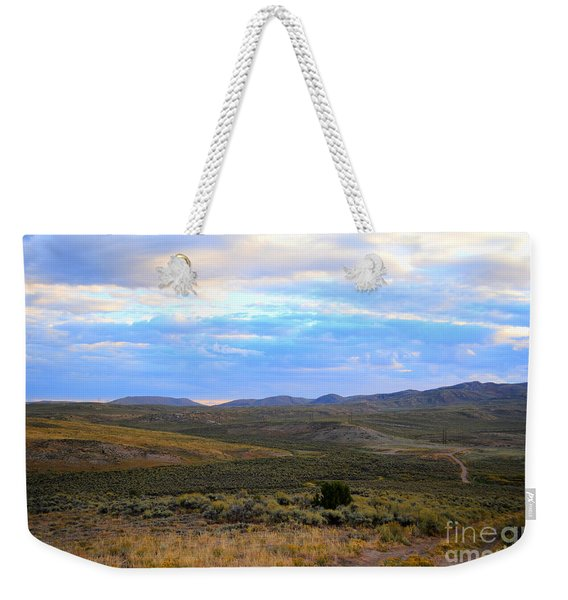 Stormy Wyoming Sunrise I Weekender Tote Bag