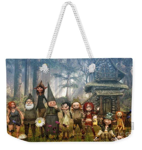 Strange Family Weekender Tote Bag