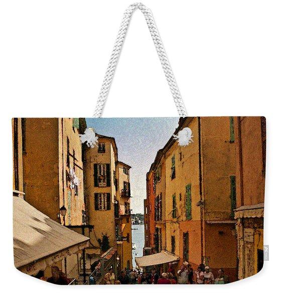 Street In Villefranche II Weekender Tote Bag