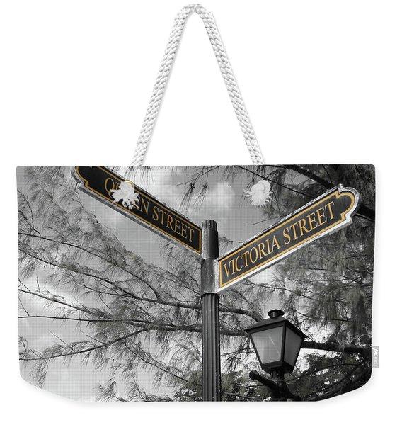 Street Signs On Grand Turk Weekender Tote Bag