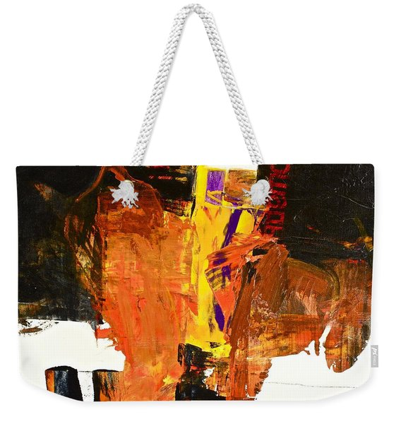 Weekender Tote Bag featuring the painting Subliminal Sublimation by Cliff Spohn