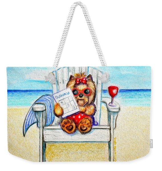 Sudoku At The Beach Weekender Tote Bag