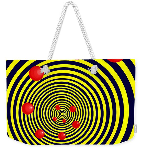 Summer Red Balls With Yellow Spiral Weekender Tote Bag