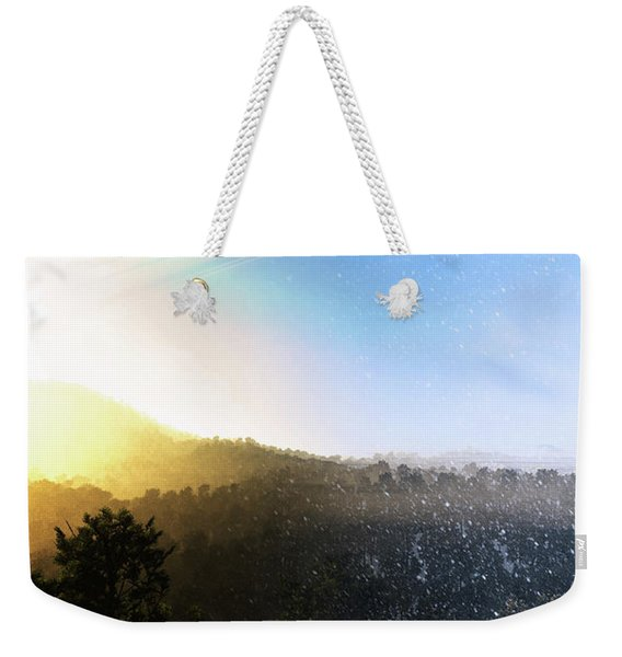 Summer Turns To Winter On A Ringed Weekender Tote Bag