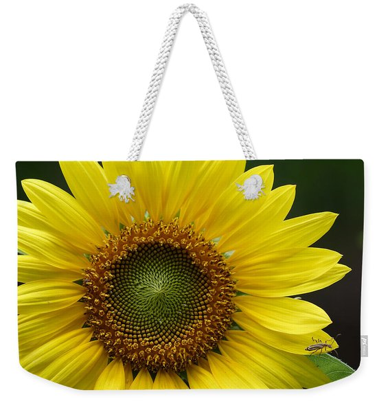 Sunflower With Insect Weekender Tote Bag