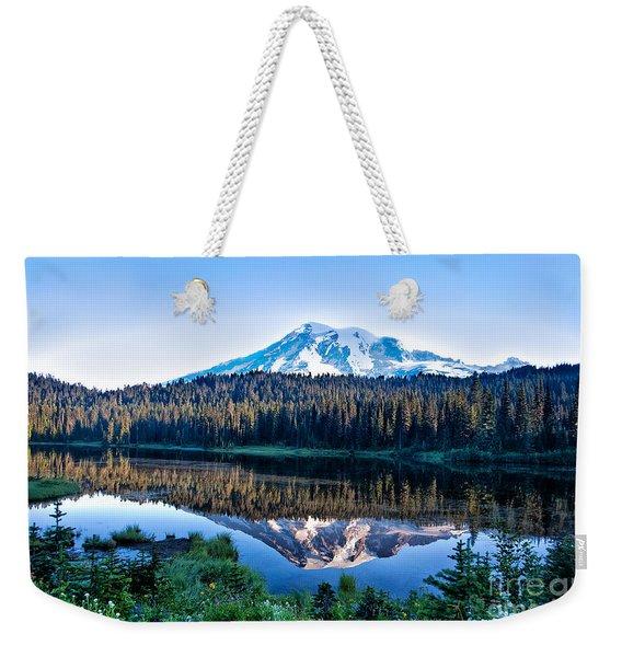 Sunrise At Reflection Lake Weekender Tote Bag