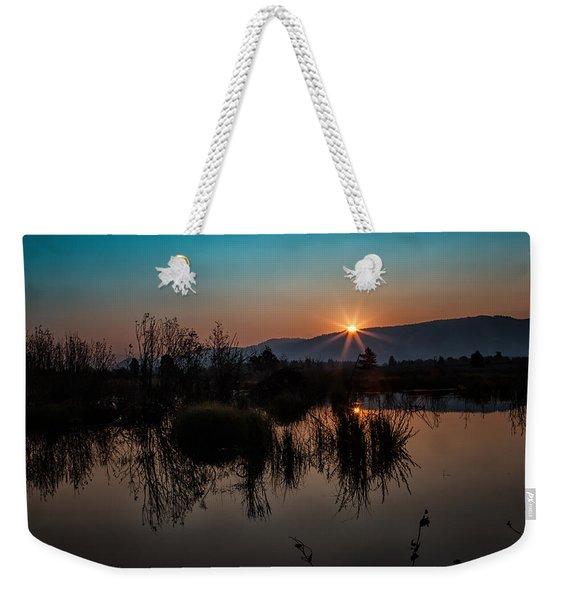 Sunrise Over The Beaver Pond Weekender Tote Bag