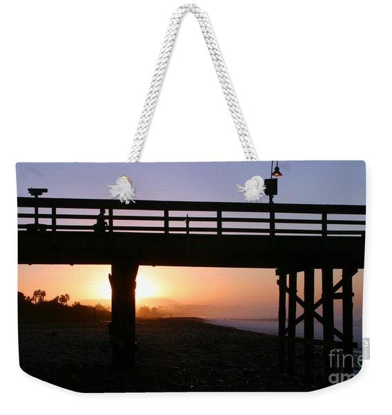 Sunrise Pier Ventura Weekender Tote Bag