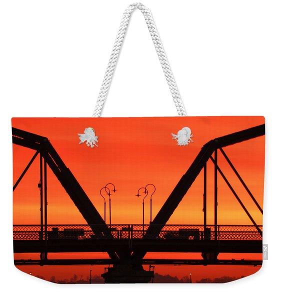 Sunrise Walnut Street Bridge Weekender Tote Bag