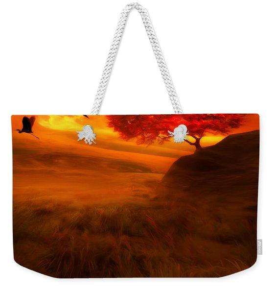 Sunset Duet Weekender Tote Bag
