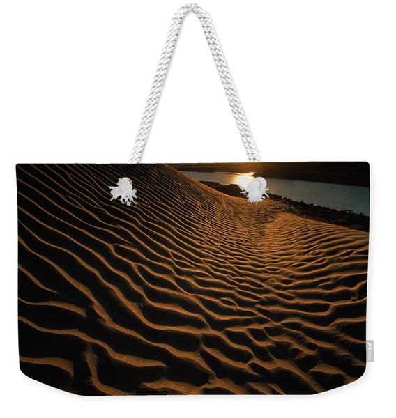 Sunset Illuminates The Sand Dunes East Weekender Tote Bag
