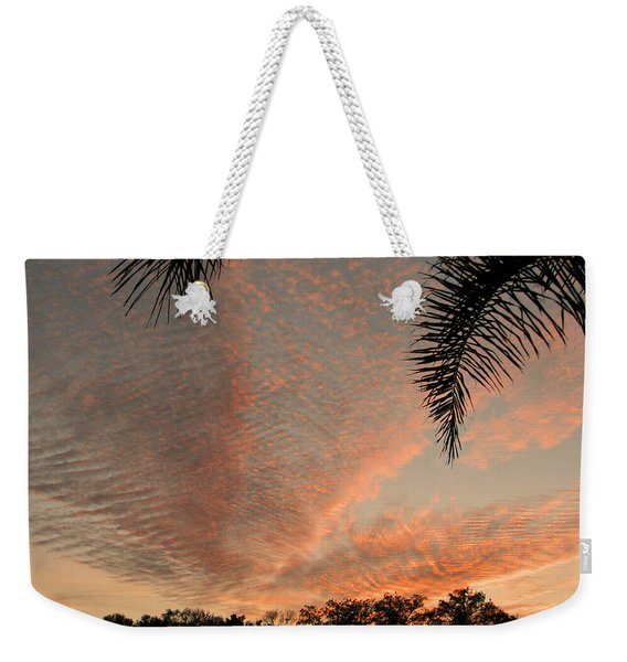 Sunset In Lace Weekender Tote Bag