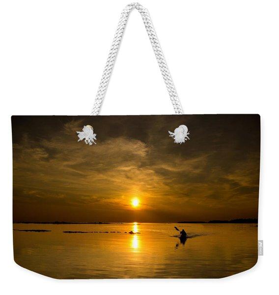 Sunset Kayak Weekender Tote Bag