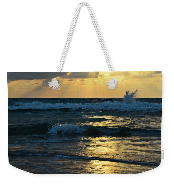 Weekender Tote Bag featuring the photograph Sunset by Michael Goyberg