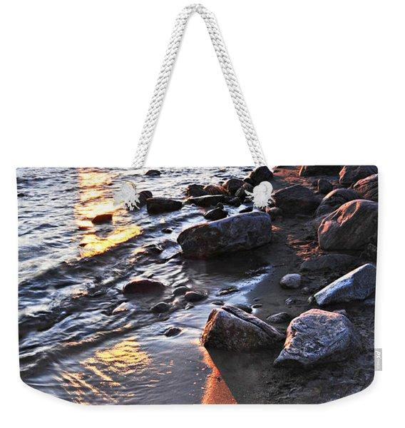 Sunset Over Water Weekender Tote Bag